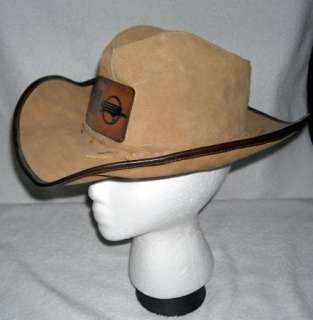 VINTAGE SUEDE LEATHER UNION PACIFIC RAILROAD COWBOY HAT UP TRAINS