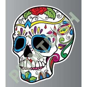 Sugar skull 5 5 sticker vinyl decal 5 x 4