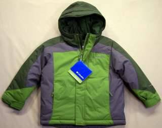 COLUMBIA Boys Green & Grey Edge Rider Jacket Coat Sz. 4/5 Youth NWT