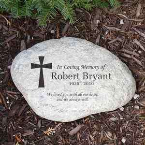 In Loving Memory Memorial Garden Stone Personalize W/Any Name & Dates