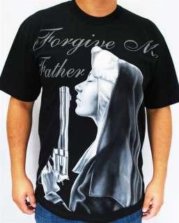 Club Urban Forgiveme T Shirt   Black Hip Hop Gangster Big and Tall