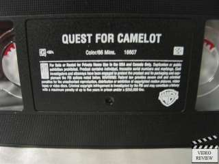 Quest for Camelot VHS Jessalyn Gilsig, Cary Elwes 085391660736