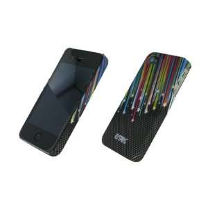 iPhone 4/4S Carbon Stars Stealth Rubberized Design Hard Case Cover