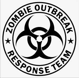 ZOMBIE OUTBREAK RESPONSE TEAM Bio Hazard Decal Sticker macbook