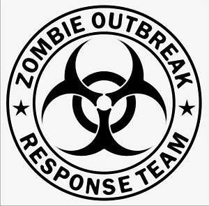 ZOMBIE OUTBREAK RESPONSE TEAM Bio Hazard Decal Sticker macbook