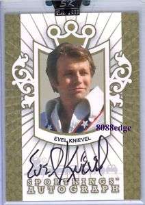 2007 SPORT KINGS AUTO GOLD EVEL KNIEVEL /10 AUTOGRAPH MOTORCYCLE