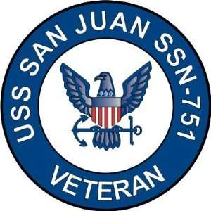 US Navy USS San Juan SSN 751 Ship Veteran Decal Sticker 3
