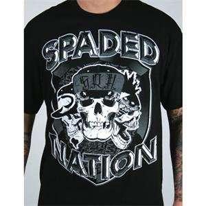 SRH Spaded Nation 3 T Shirt   2X Large/Black: Automotive
