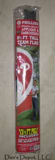NEW MLB Philadelphia Phillies 8 1/2 ft. Tall Embroidered Team Flag