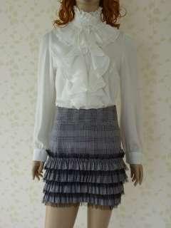 Cocktail Business Retro Ruffle Caro Skirt Dress Sz 6 16