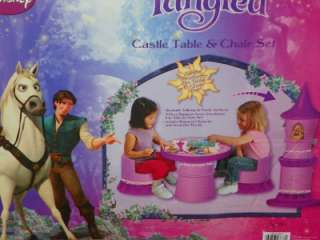 ... Tangled Rapunzel Transforming Tower Castle Table and Chair Set ... & Disney Tangled Rapunzel Castle Tower Transform Into Table and Chair