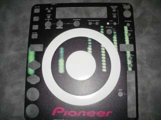 Pioneer CDJ 1000 800 850 400 900 200 2000 Skin Faceplate Absolute one