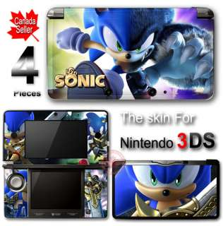 Sonic SKIN VINYL STICKER DECAL COVER for Nintendo 3DS