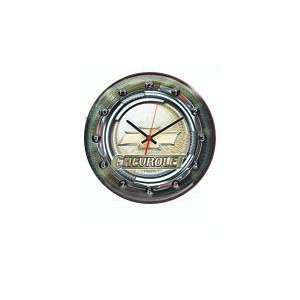 Chevy Logo Button Tin Clock