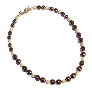 The Black Cat Jewellery Store Chocolate Brown Czech Pearl