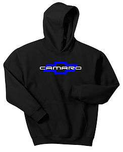 CAMARO HOODIE BLACK SWEAT SHIRT CHEVY CHEVROLET SS Z28 MUSCLE CAR BOW