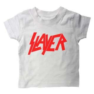 BABY T SHIRT SLAYER ROCK METAL MUSIC PUNK SLOGAN KIDS