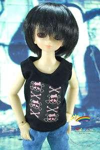 MSD Dollfie Doll Outfit Black Sleeveless Skull Girl