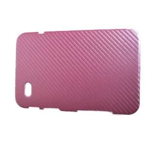 Samsung Galaxy Tab Hard Cover Woven Leather   Color Pink