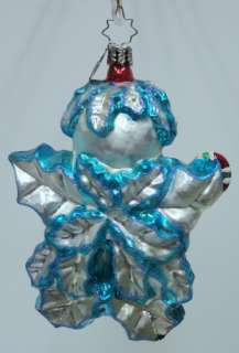 RADKO Holly Jean Blue ORNAMENT Snowman 1011693