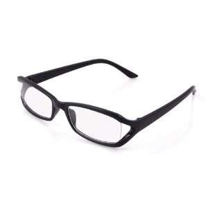 Black Polished Plastic Full Rim Clear Lens Glasses