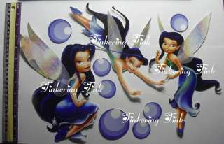 GLITTERED SILVERMIST WALL STICKERS DECALS TINKERBELL