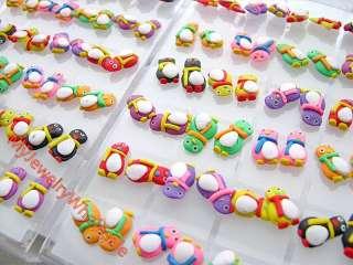 mixed lots 24 pair Charm Polymer Clay earrings. flower earrings