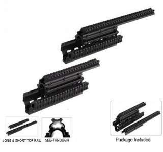 Saiga 12 & 20 Quad Rail System Heavy Duty Design Weaver Picatinny