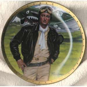 John Wayne Plate Symbol of Americas Fighter Pilots