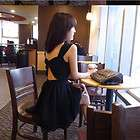 Women Korea Sexy Backless Sleeveless Mini Dresses #022