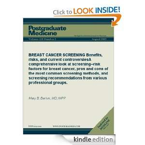 SCREENING Benefits, risks, and current controversies A comprehensive