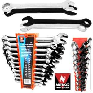Pro Grade 22 Piece Combination Wrench Set   Extended Length   MM and