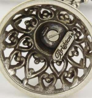 Brighton Heart Motif Silvertone Jewelry Chain Necklace Tree Stand