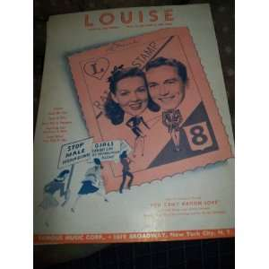 Louise (sheet Music for Piano and Voice) Leo (Music By
