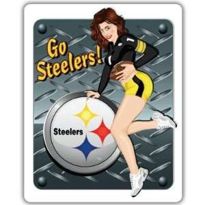 Pittsburgh Steelers NFL Football bumper sticker 4 x 5