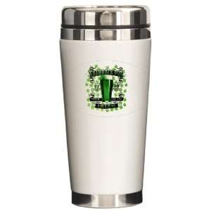 Ceramic Travel Drink Mug Shamrock Pub Luck of the Irish