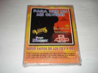 ME OLVIDES SUPER EXITOS DE LOS 70S Y 80S CASSETTES NUEVO Y SELLADO
