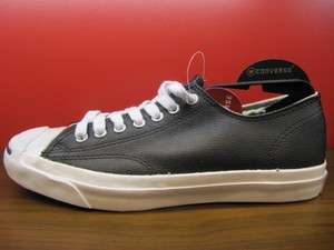 New Converse Jack Purcell Black Leather Low US Men 3 11 Shoes Classic