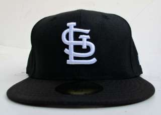St Louis Cardinals Black On White All Sizes Cap Hat by New Era