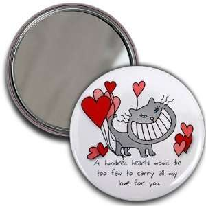 Creative Clam Love Kitty Cat Hearts Valentines Day 2.25