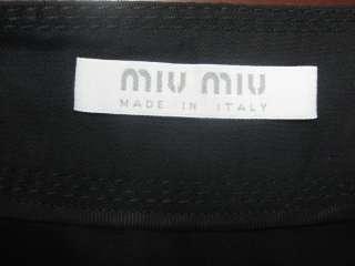 MIU MIU ITALY WOMENS BLACK WOOL BLEND SKIRT BOTTOMS DRESS WRAP