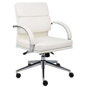 White Mid Back Desk Chair: Office Products