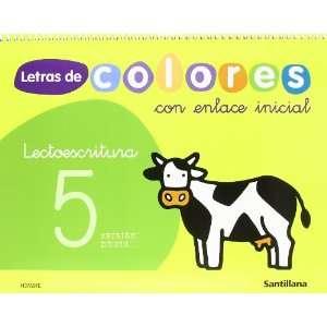 LETRAS DE COLORES 5 CON ENLACE INICIAL CUAD LECTOESCRITURA