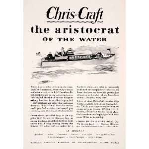 1929 Ad Mahogany Chris Craft Smith Sons Boats Cruisers Yachts