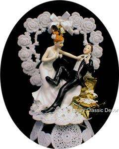 Presents Wedding shower Cake Topper Crazy Bride Groom funny