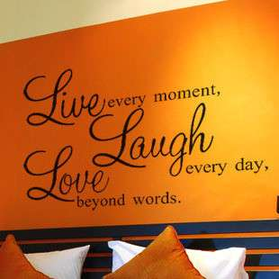 Laugh Live Love Art DecoR Wall Paper Sticker Decal 225