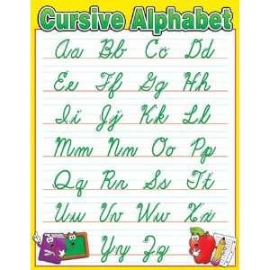 cursive writing alphabet chart