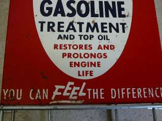 Old Vintage Service Station Gas Oil STP Gas Treatment Wire Display