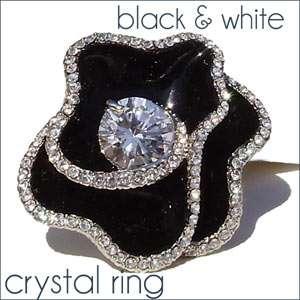 Swarovski Crystal Ring Size 6 9 Fashion Womens Jewelry Elegant Flower