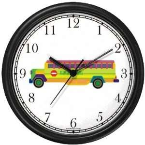 Multi Colored School Bus Wall Clock by WatchBuddy